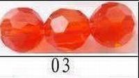 kristal machinaal geslepen. rond helder oranje
