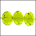 kristal machinaal geslepen. rond helder mint groen