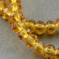 Kristal rond machinaal geslepen goud