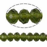 Kristal rond machinaal geslepen leger groen