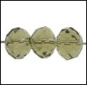 Kristal rond machinaal geslepen antraciet