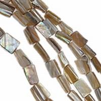 Blokje vrije vorm licht bruin parelmoer
