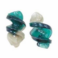 Turquoise Wit Vrije vorm