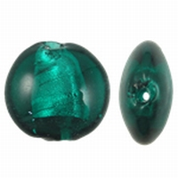 Turquoise zilverfolie plat rond