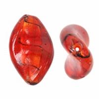 Rood twist zilverfolie met zwart gestreept