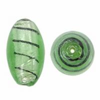 Mint groen ovaal zilverfolie zwart gestreept
