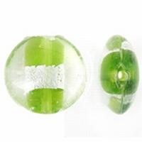 Mint groen zilverfolie plat rond