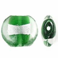 Groen zilverfolie plat rond