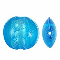 Blauw zilverfolie plat rond
