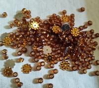 Goud bruin zilverfolie hart