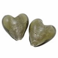 Antraciet zilverfolie hart groot