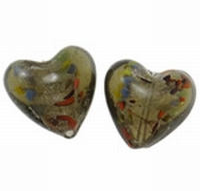 Antraciet zilverfolie hart