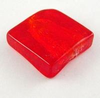 Rood zilverfolie vierkant plat