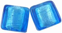 Blauw zilverfolie vierkant
