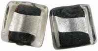 Zwart zilverfolie vierkant