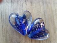 Kobalt blauw met goud zand hartje