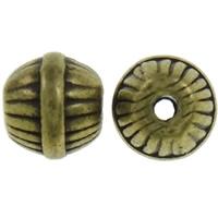 Ronde  kraaltje bewerkt antiek brons