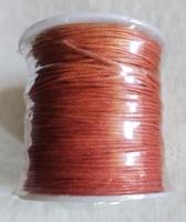 Wax draad bruin/rood