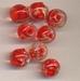 Glas kraal rood LUM0080R8