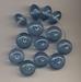 Blauwe kraal rondel 16