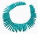 Turquoise tanden