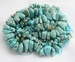 Turquoise grote nuggets