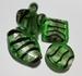 Zilverfolie mix groen/zwart