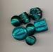 Zilverfolie mix Turquoise/groen