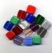 Kleur platte vierkante kraal opaque/helder 13x13x6 mm