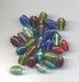 Plat ovale kralen helder 6x9x10 mm