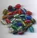 Platte ovalen kraaltjes helder 13x9x6 mm