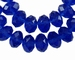 Kristal rondel hand geslepen helder blauw/paars