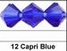 Kristal machinaal geslepen.donker blauw 6