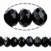Kristal rondel zwart