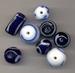 Lampwork mix delfs blauw
