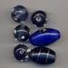 Lampwork mix Paars/blauw pukkel