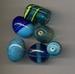 Lampwork mix Blauw/turquoise