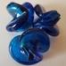 Blauw zilverfolie vrije vorm