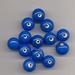 Donker blauwe kraal opaque 10
