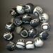 Fimo klei kralen zwart/wit