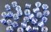 Hemel blauw zilverfolie