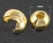 Overzet kraal 4 goud mooie afwerking van je knijpkraal