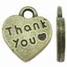 Hartje antiek brons Thank you