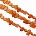 Zoetwater schelp geslepen oranje