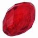 Grote kraal rood zilverfolie past door een spang