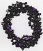 Haak pakketje zwart paars op elastiek gehaakt
