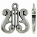 Harp antiek zilver