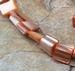 Schelp vrije vorm oranje parelmoer