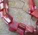 Schelp vrije vorm rood parelmoer