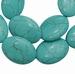 Turquoise ovaal plat
